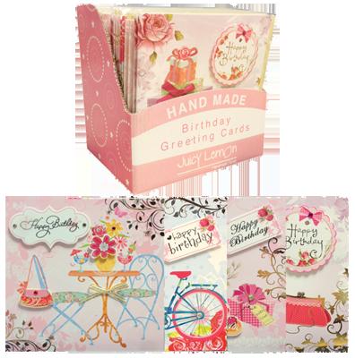 Female Birthday Card Bundle 24 Cards 4 Designs